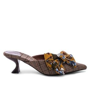 NWOT Rare Jeffrey Campbell Adorn Bow Kitty Mules